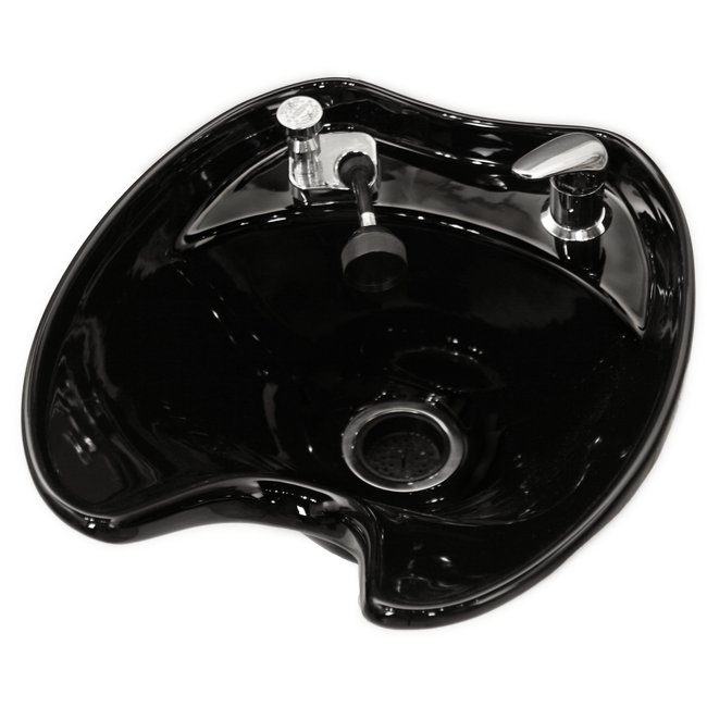 Black 8600 Tilting Porcelain Shampoo Bowl