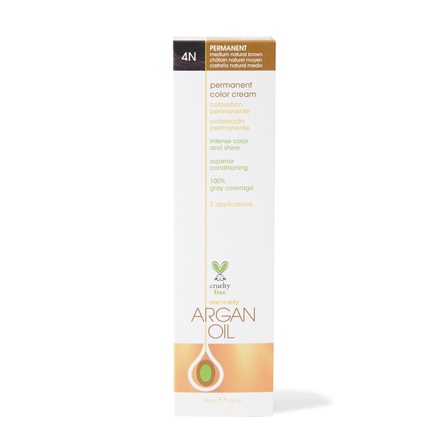 Argan Oil Permanent Color Cream 4N Medium Natural Brown