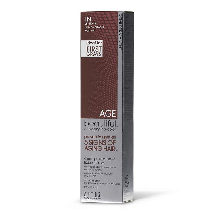 1N Jet Black Demi Permanent Liqui Creme Hair Color
