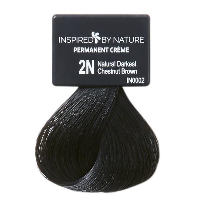 Ammonia-Free Permanent Hair Color Natural Darkest Chestnut Brown 2N