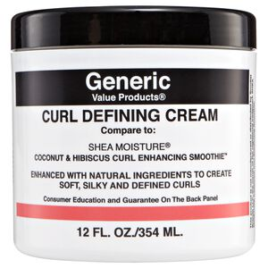 GVP Curl Defining Cream Compare to Shea Moisture Coconut & Hibiscus Curl Enhancing Smoothie