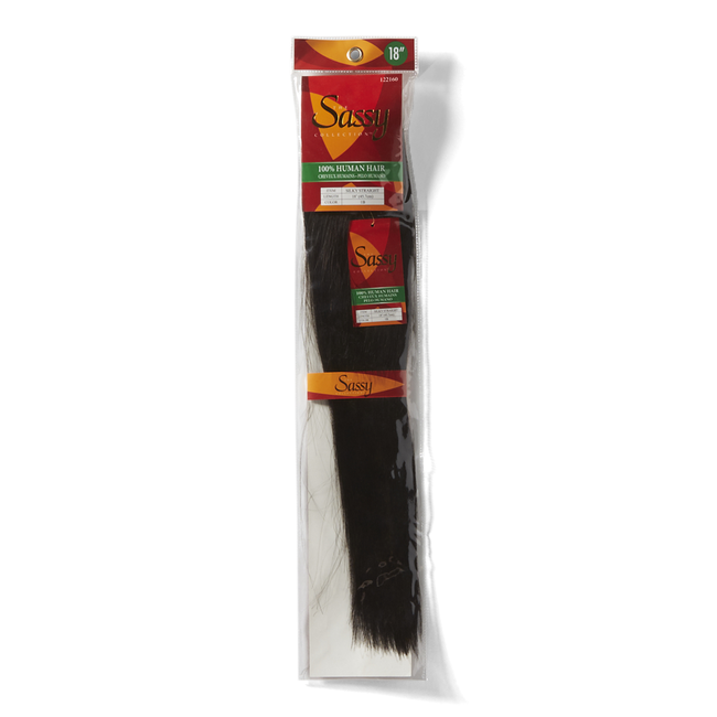 Silky Straight Off Black 18 Inch Human Hair Extension
