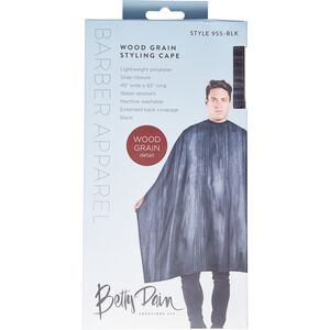 Black Wood Grain Styling Cape