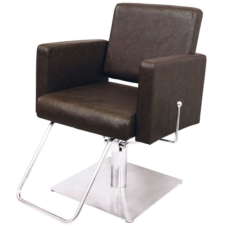 Piper Styling Chair with Square Base Brown