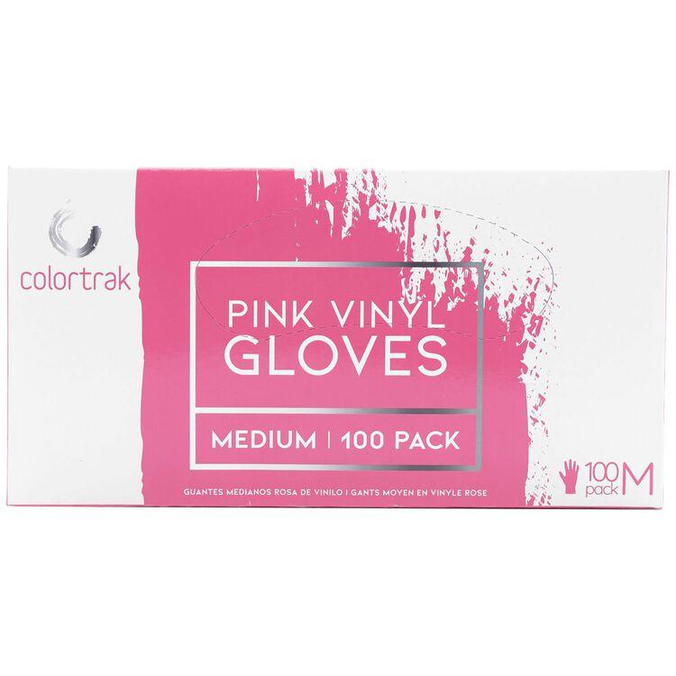 100ct Pink Vinyl Gloves