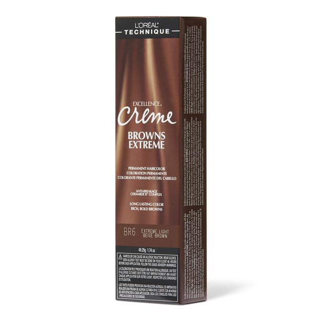 BR6 Light Beige Brown Permanent Creme Hair Color