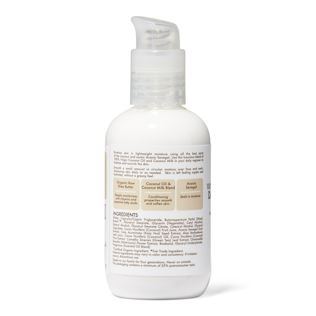 100% Virgin Coconut Oil Daily Hydration Facial Lotion