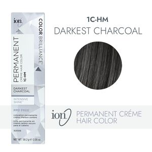 1C-HM Darkest Charcoal Permanent Creme Hair Color