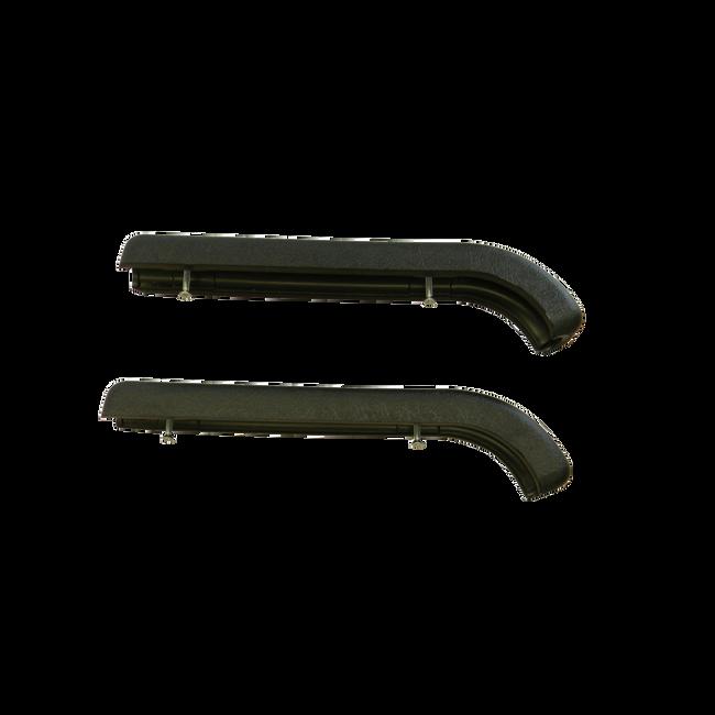 1098 Armrests (pair) -Black with screws
