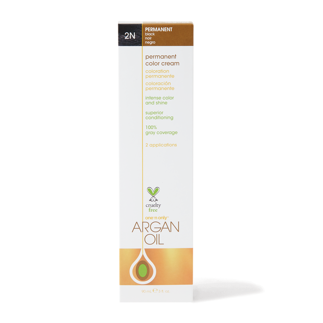 Argan Oil Permanent Color Cream 2N Black
