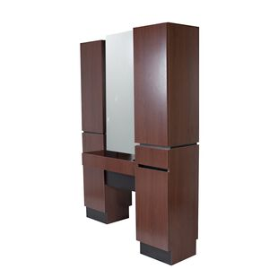 Reve Brighton Walnut Back-to-Back Tower Styling Station