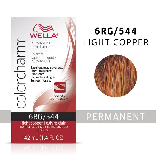Light Copper Color Charm Liquid Permanent Hair Color