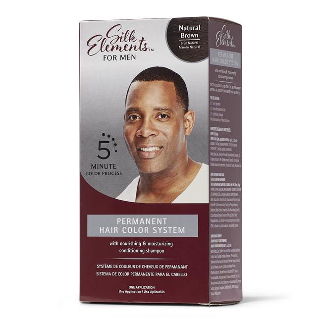 Permanent Hair Color System for Men Natural Brown