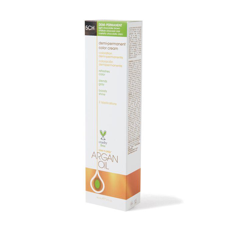 Argan Oil Demi Permanent Color Cream 5CH Light Chocolate Brown