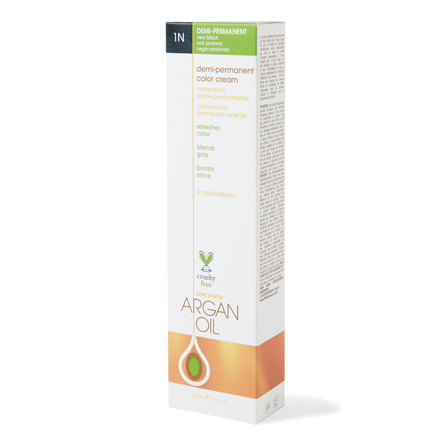 Argan Oil Demi Permanent Color Cream 1N Very Black