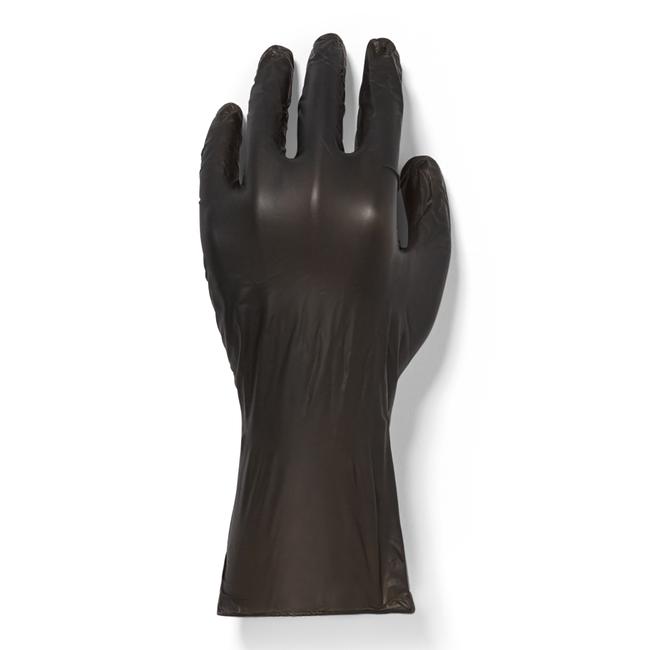 100 Count Black Vinyl Gloves-Medium