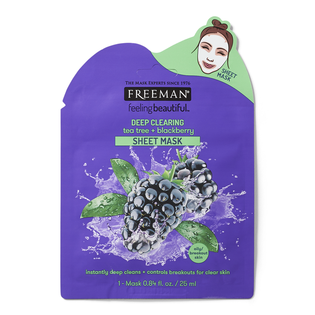 Deep Clearing Tea Tree & Blackberry Sheet Mask