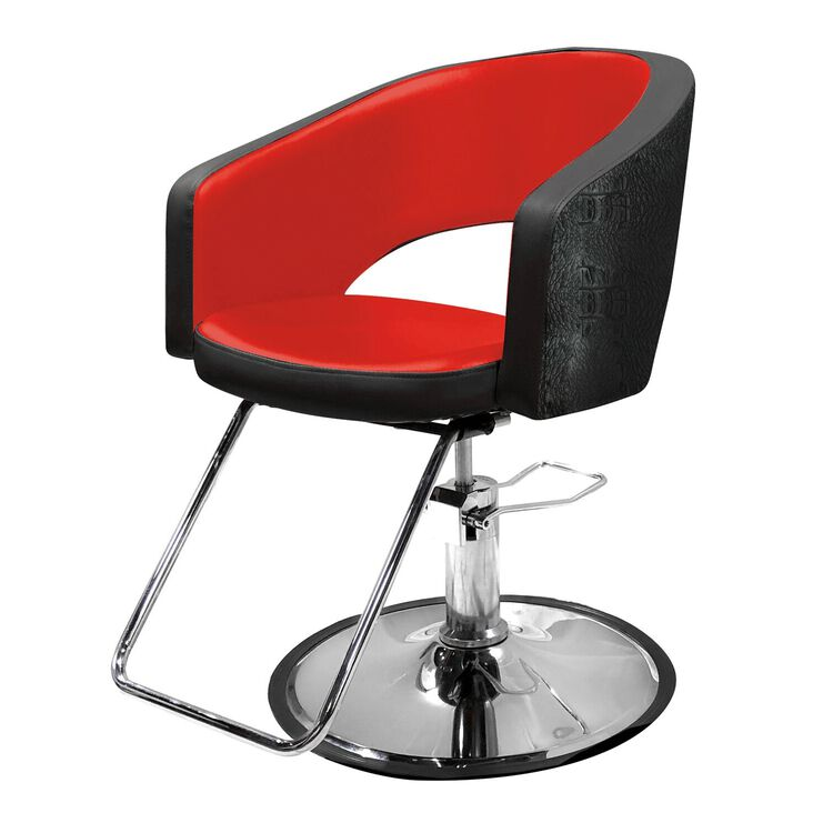 Bristal Styling Chair - Red Interior and Black Exterior