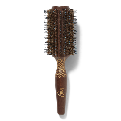 Etched Wood Round Brush