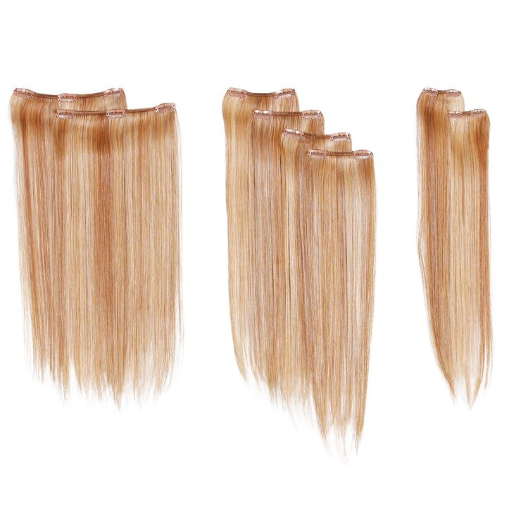 Clip-in 16 Inch 8-Piece Straight Extension Kit