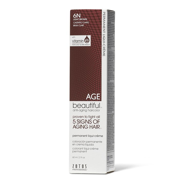 6N Light Brown Permanent Liqui-Creme Hair Color