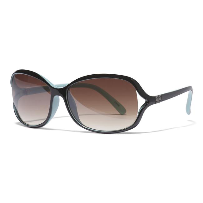 Plastic Two Tone Blue Fashion Sunglasses