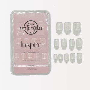 Inspire 24 DIY Pre-Glued Clear Almond Nails