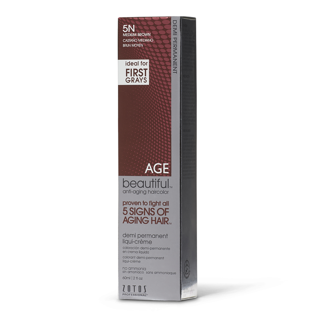5N Medium Brown Demi Permanent Liqui Creme Hair Color