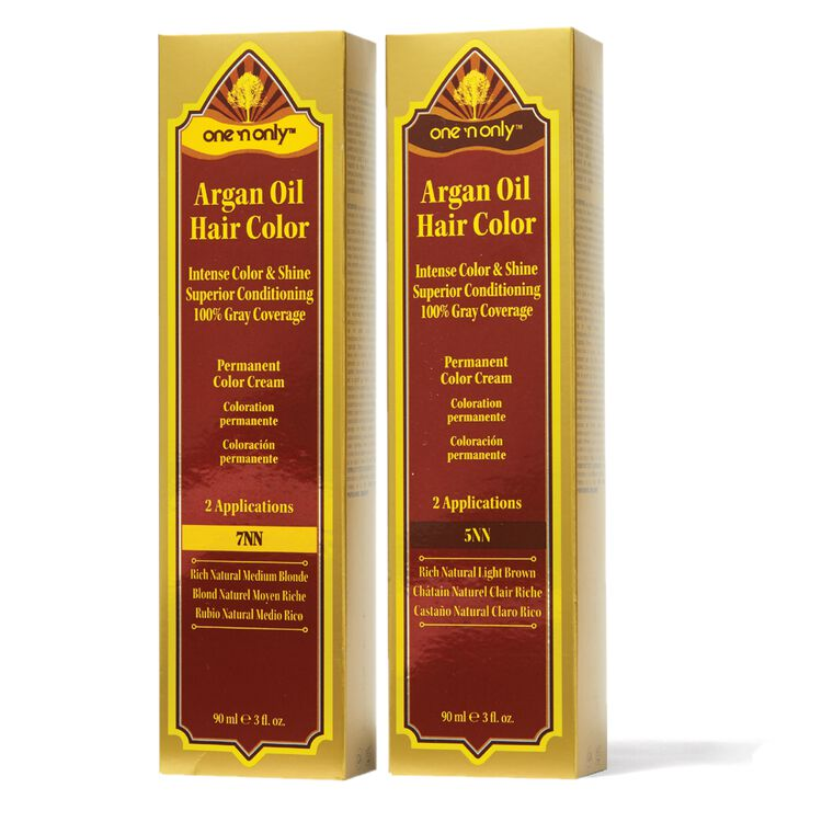 Brunette Double Natural Series Argan Oil Permanent Hair Color