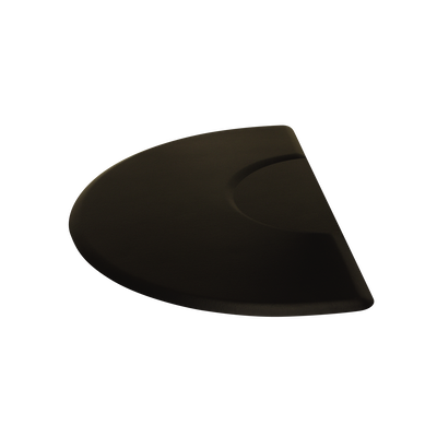 5030CT 3 X 5 Black 1/2 Circle Mat