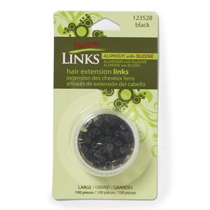 Black Large Silicone Lining Micro Links