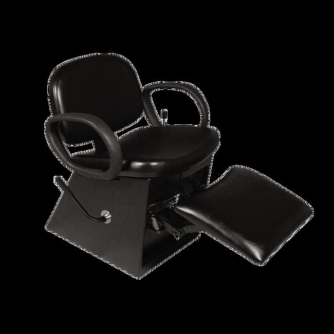 Contour Shampoo Chair with Legrest Black