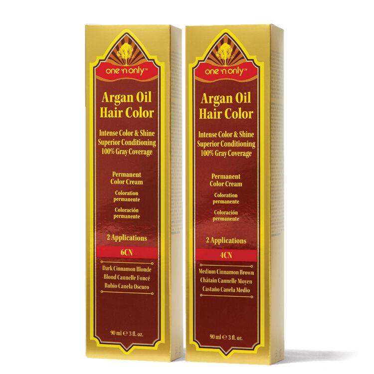Brunette Cinnamon Series Argan Oil Permanent Hair Color