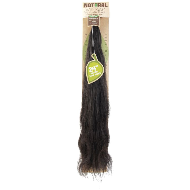 Virgin Dark Brown 24 Inch Human Hair Extension