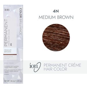 4N Medium Brown Permanent Creme Hair Color