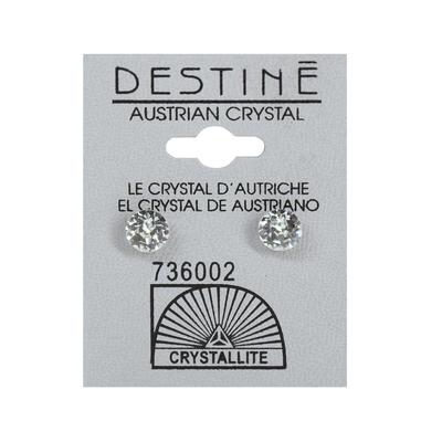 Destine Clear Diamond Cut Earrings