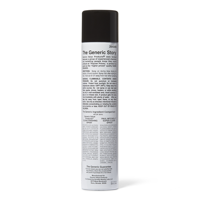 Clean Finishing Spray Compare to Paul Mitchell Super Clean Spray