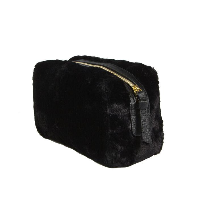 Faux Fur Bag Black