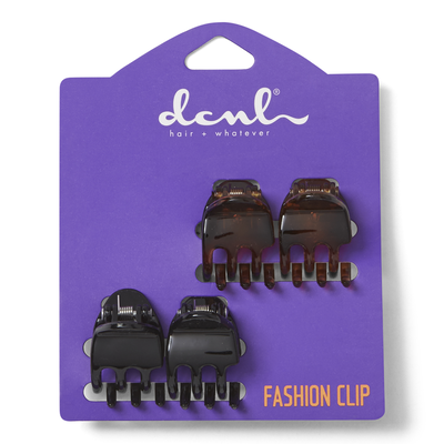 Black & Tortoise Mini Clips