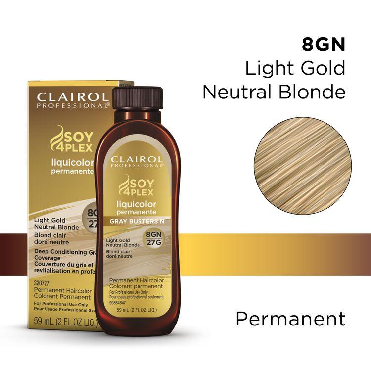 8GN/27G Light Gold Neutral Blonde LiquiColor Permanent Hair Color