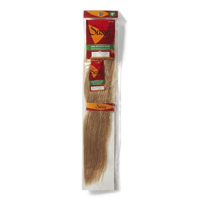 Silky Straight Strawberry Blonde & Platinum Mix 18 Inch Human Hair Extension