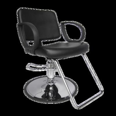 PureSana Hannah Styling Chair with Chrome Base