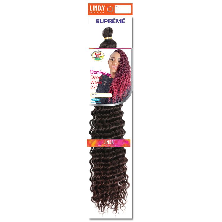 Dominican Wave 22 Inch Crochet Hair Ombre Black/Dark Auburn