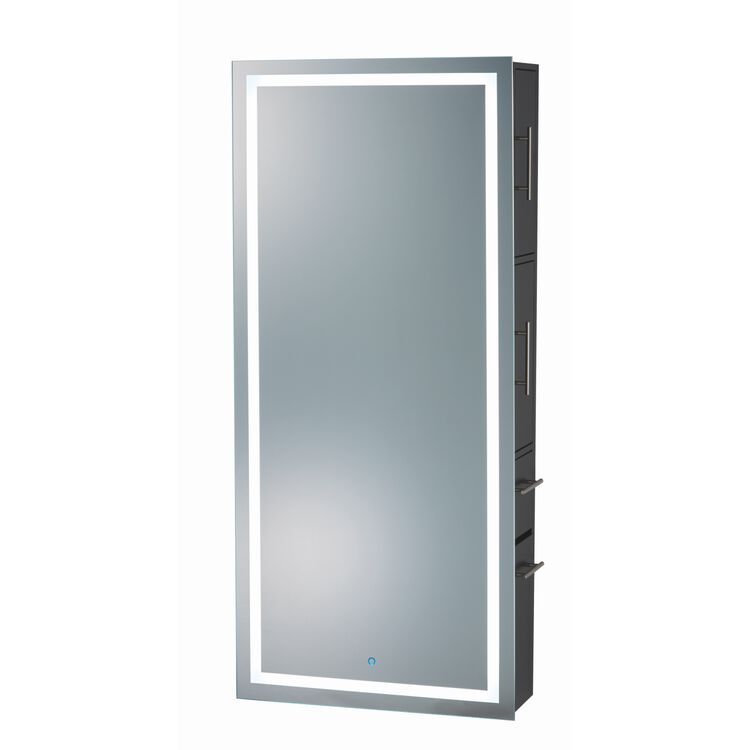 "LED Mirror Styling Station 30"" X 66"" X 11.75"""