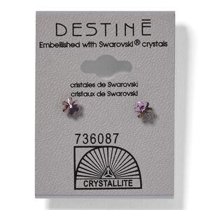 Destine Violet Snowflake Earrings