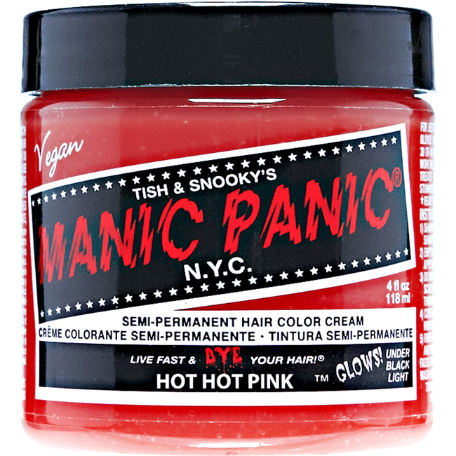 Hot Hot Pink Manic Panic Semi Permanent Hair Color Sally Beauty