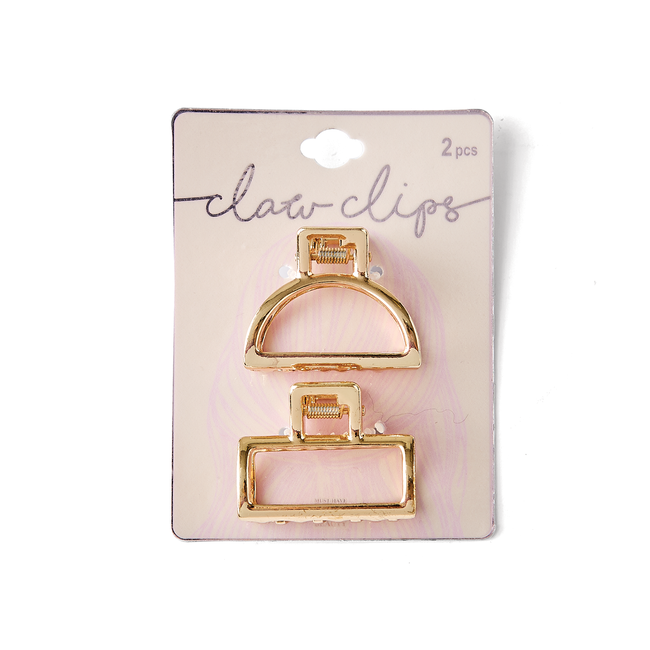 Gold Metal Claw Clip Set