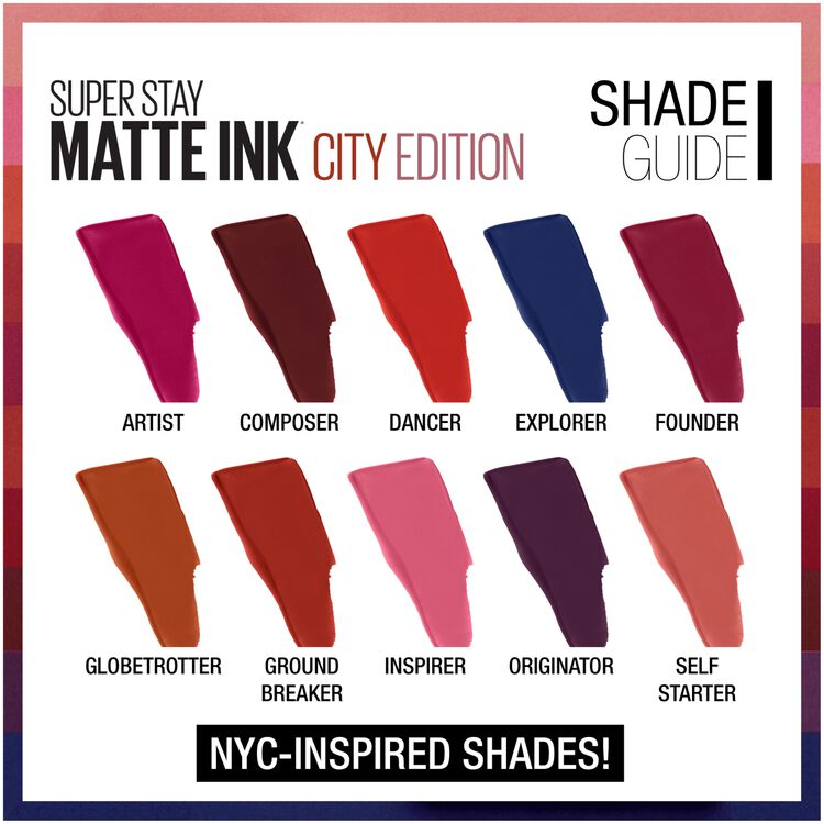 SuperStay Matte Ink City Edition Liquid Lipstick Makeup
