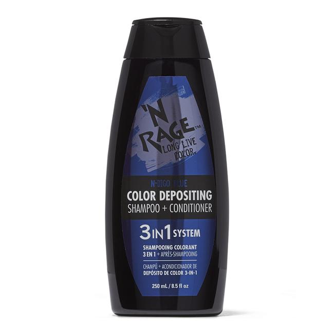3 In 1 Color Depositing Shampoo & Conditioner N Chanted N Digo Blue