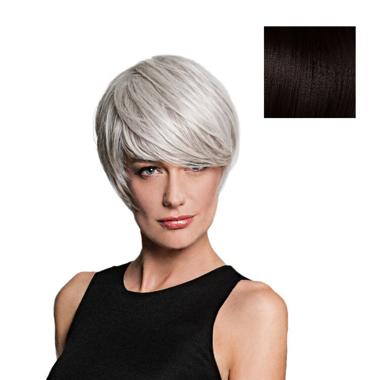 Angled Cut Wig Midnight Brown